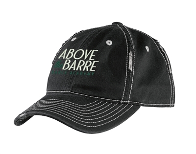 ATB Dance Academy Winter District Rip and Distressed Cap-Black/Chrome