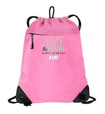ATB Dance Academy Winter Port Authority Cinch Pack with Mesh Trim-Bright Pink