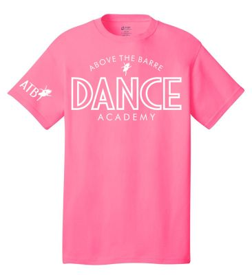 ATB Dance Academy Winter Unisex Basic Core Cotton Tee-Neon Pink