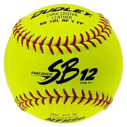 Dudley SB12L NFHS 12? Fastpitch leather Softballs (Dozen)