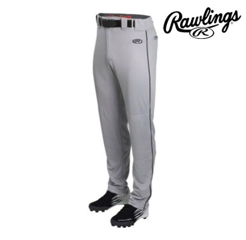 08. Rawlings Launch Piped Baseball Pant-Grey/Black