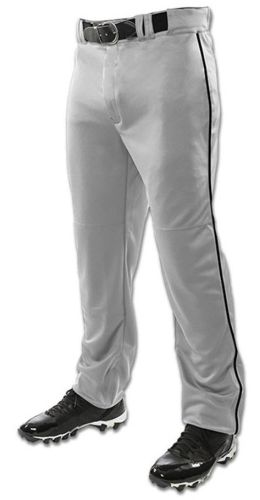 10. Champro 14 oz Open Bottom Pant with Braid-Grey/Black