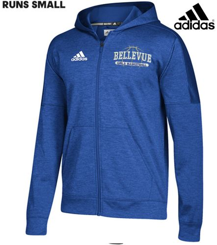 Bellevue Girls Basketball Adidas Women's Team Issue Full Zip Jacket (runs small)-Royal