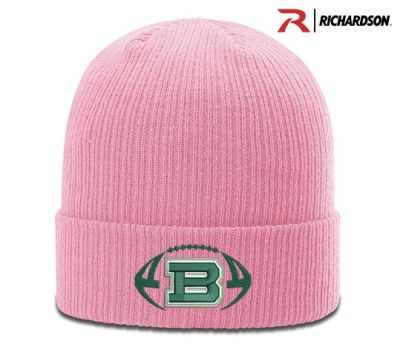 7ac43c26341 Bartlett Football Richardson Cuffed Beanie Knit Stocking Cap-Pink