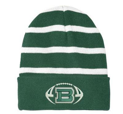 f9a7988bcec Bartlett Football Richardson Cuffed Beanie Knit Stocking Cap-Pink. Our  Price   12.00. 09. Bartlett Football Sport-Tek Striped Beanie with Solid  Band-Forest ...