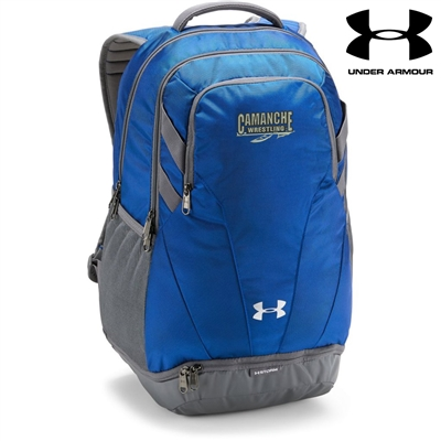 Camanche Wrestling Club Under Armour Team Hustle 3.0 Back Pack-Royal/Grey
