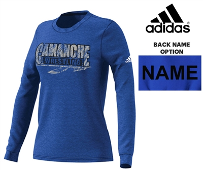 Camanche Wrestling Club Adidas Women's Go-To Soft Blend Long Sleeve-Royal