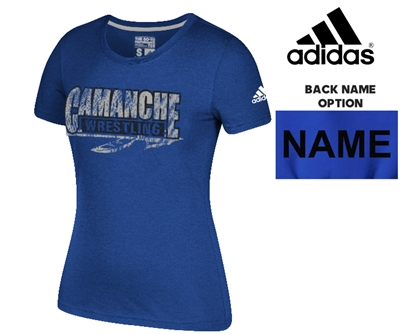 Camanche Wrestling Club Adidas Go-To Soft Blend Short Sleeve Tee-Royal