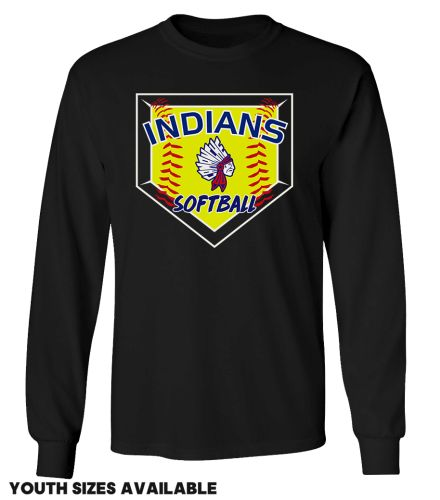 Camanche Softball Unisex Basic Long Sleeve Tee-Black