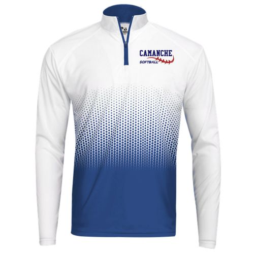 Camanche Softball Hex 2.0 1/4 Zip-Royal/White