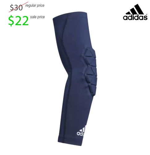 Colfax Mingo Football Player Gear Adidas Alphaskin Padded Elbow Sleeve-Navy