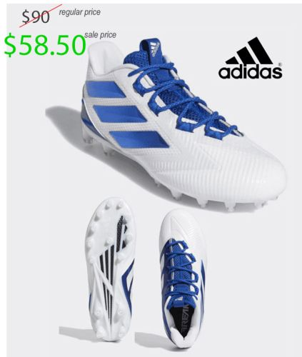 Camanche Football TEAM Store Adidas Freak Carbon LOW-White/Royal
