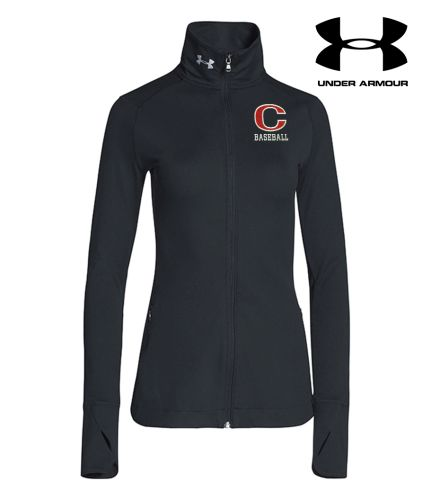 Clinton Baseball Under Armour Women's Sporty Lux Warm Up Jacket-Black