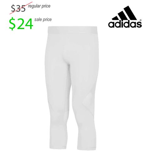 Des Moines Lincoln Football Player Gear Adidas Alphakin 3/4 Tight-White
