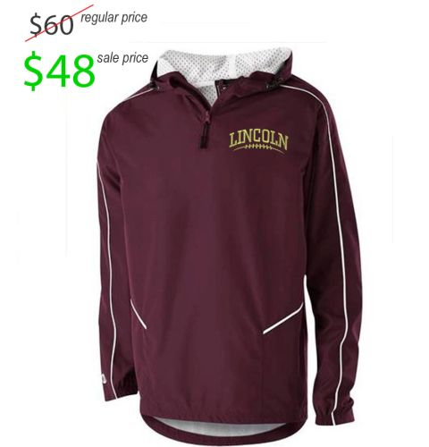 Des Moines Lincoln Football Player Gear Holloway Wizard Pullover-Maroon/White