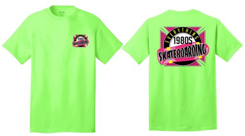05. Everything 1980s Skateboarding Unisex Core Cotton Tee-Neon Green