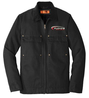 Floyd's Truck Center Company Store CornerStone Washed Duck Cloth Chore Coat-Black