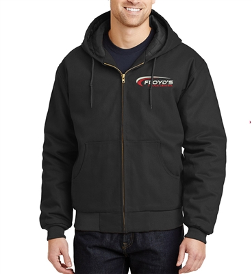 Floyd's Truck Center Company Store CornerStone Duck Cloth Hooded Work Jacket-Black