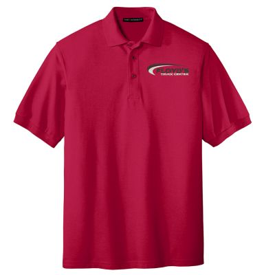 Floyd's Truck Center Company Store Port Authority Silk Touch Polo-Red