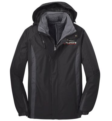 Floyd's Truck Center Company Store Port Authority Colorblock 3-in-1 Jacket-Black/Black/Magnet Grey