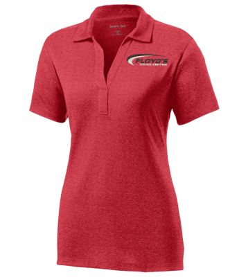 Floyd's Truck Center Company Store Sport-Tek Ladies Heather Contender Polo-Scarlet Heather