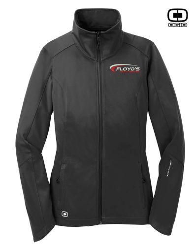 Floyd's Truck Center Company Store Ogio Endurance Ladies Crux Soft Shell-Blacktop