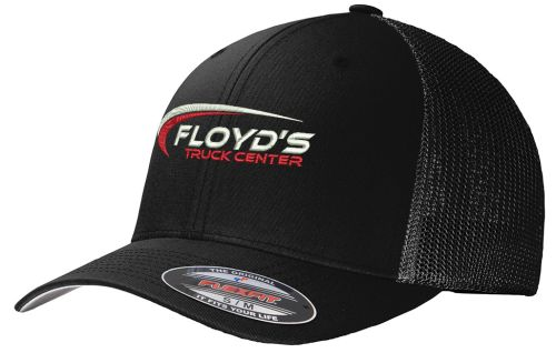 Floyd's Truck Center Company Store Port Authority Flexfit Mesh Back Cap-Black/Black