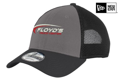 Floyd's Truck Center Company Store New Era Snapback Contrast Front Mesh Cap-Charcoal/Black