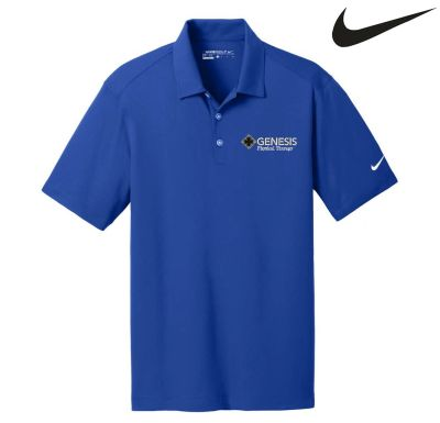 01. Genesis Physical Therapy Nike Golf Dri-Fit vertical Mesh polo shirt - Old Royal