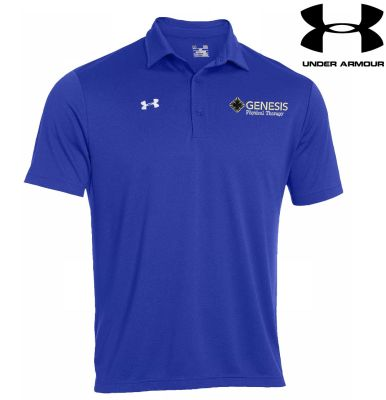 03. Genesis Physical Therapy Under Armour Every Teams performance polo - Royal White
