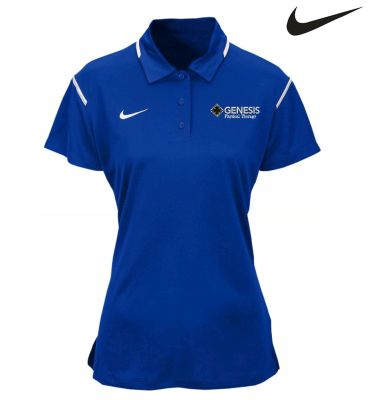 04. Genesis Physical Therapy Nike Womens Game Day Select Polo - Royal White