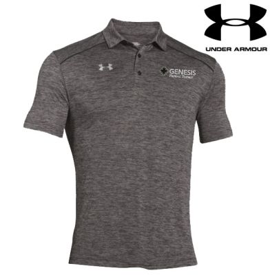 12. Genesis Physical Therapy Under Armour Steel Tech Polo - Carbon Heather