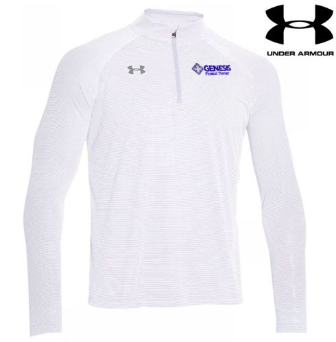 13. Genesis Physical Therapy Under Armour stripe tech 1/4 zip pullover - White