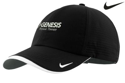 14. Genesis Physical Therapy Nike Drifit Swoosh perforated performance cap - Black
