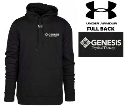 17. Genesis Physical Therapy Under Armour Hustle Fleece Hoodie - Black