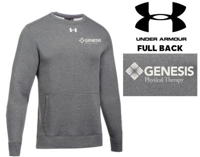 18. Genesis Physical Therapy Under Armour Hustle Fleece Crew - Carbon Heather