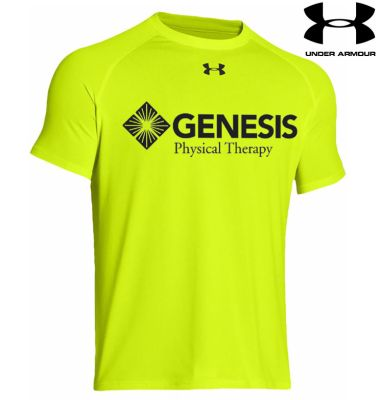 21. Genesis Physical Therapy Under Armour Locker Tee - HiVisYellow