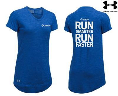 24. Genesis Physical Therapy Under Armour Womens Stadium Flow T- 400 Royal