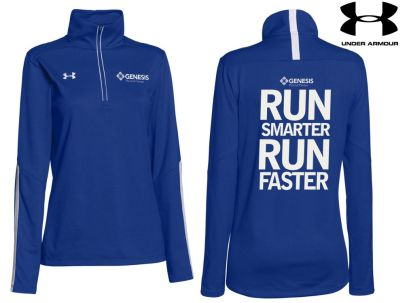 27. Genesis Physical Therapy Under Armour Ladies Qualifier 1/4 Zip - 400Royal
