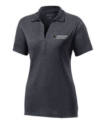 29. Genesis Physical Therapy Sport-Tek Ladies Contender Polo-Graphite Heather