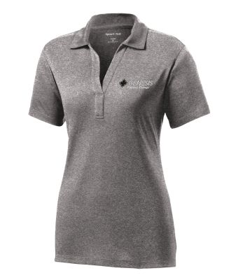 30. Genesis Physical Therapy Sport-Tek Ladies Contender Polo-Vintage Heather