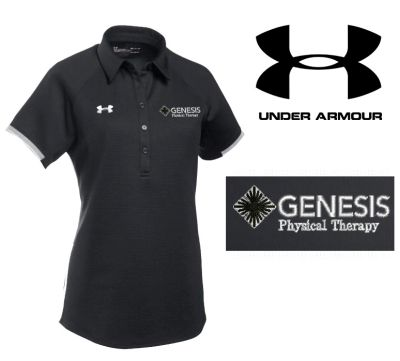 32. Genesis Physical Therapy Under Armour Women's Rival Polo-Black