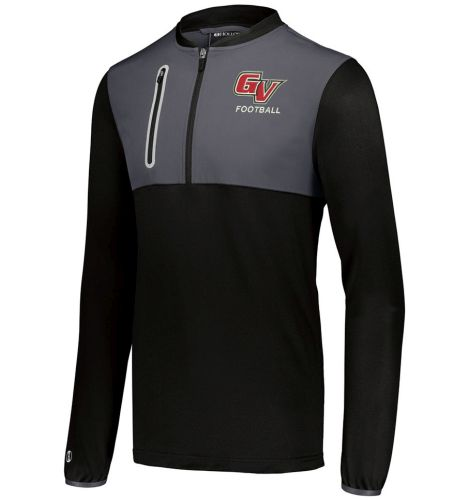 Grand View Football Spring Weld Hybrid Pullover-Black/Carbon