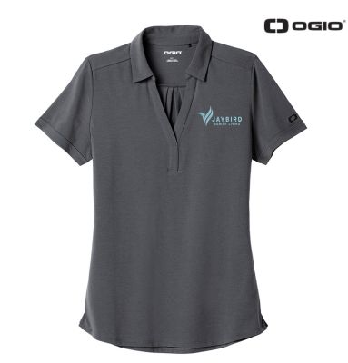 Jaybird Senior Living OGIO Ladies Limit Polo-Diesel Grey