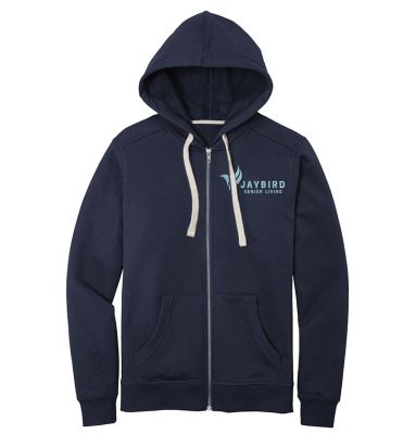 Jaybird Senior Living District Re-Fleece Full Zip Hoodie-True navy