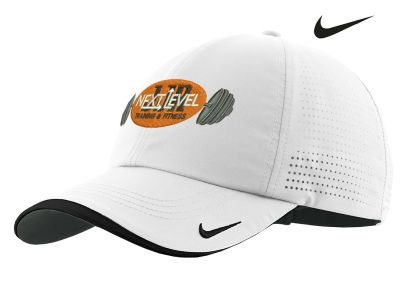 JJR Next Level Training and Fitness Nike Dri Fit Swoosh Perforated Cap-White
