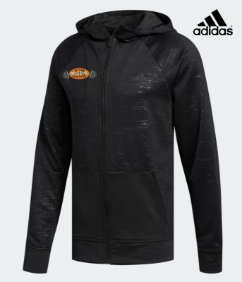 JJR Next Level Training and Fitness Adidas Electric Full Zip Terry Hoodie-Black