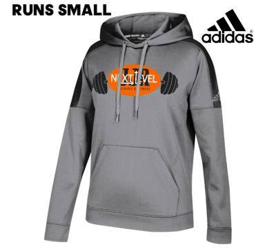 JJR Next Level Training and Fitness Adidas Women's Team Issue Hood (runs small)-Grey