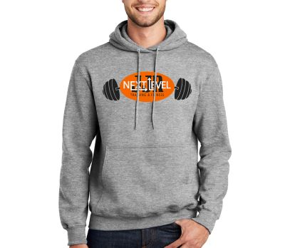 JJR Next Level Training and Fitness Unisex Basic Essential Fleece Hood-Athletic Heather