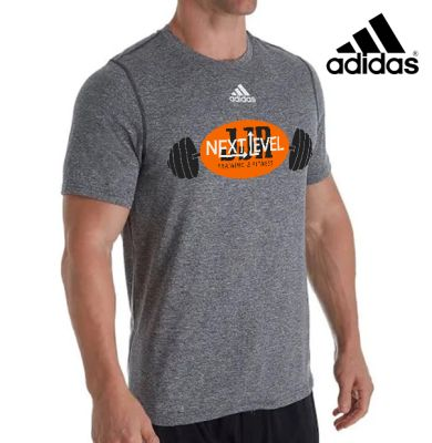 JJR Next Level Training and Fitness Adidas Creator Short Sleeve Tee-Dark Heather Grey